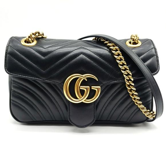 abcb6859132 Gucci Handbags - Gucci GG Marmont Small Matelasse Shoulder Bag